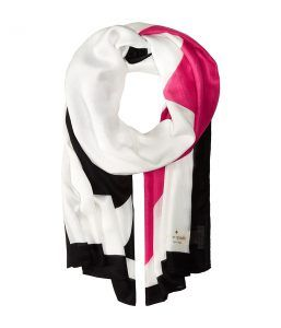 Kate Spade New York Suit of Cards Oblong Scarf (Cream) Scarves