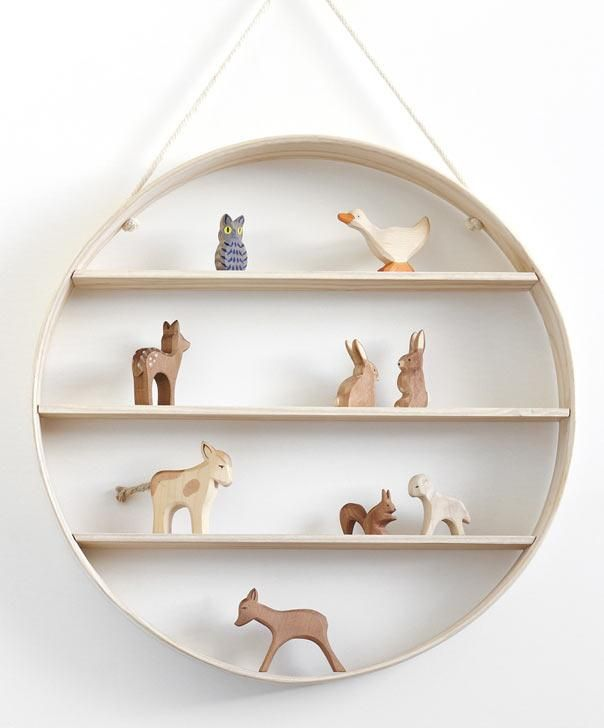 Mirrors shaped like apples, a circular shelf, a parade of wooden baby animals—these are the whimsical imaginings of Melbourne-based Bride & Wolfe.