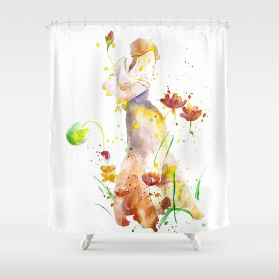 Woman's Abstract - Fall Shower Curtain by MIKART | Society6