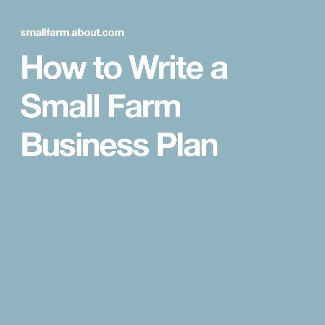 Make A Farm Business Plan