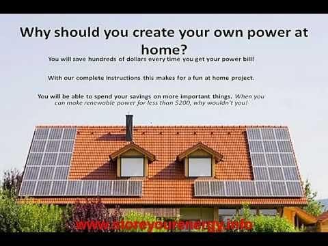 how to make your own solar power system