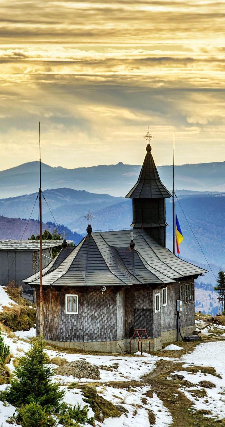 Traditional Wooden Muntain Church in Ceahlau Mountains, Eastern Carpathians, Romania