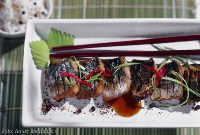 Makrela se sojovou omáčkou a zázvorem - Saba no-nicuke