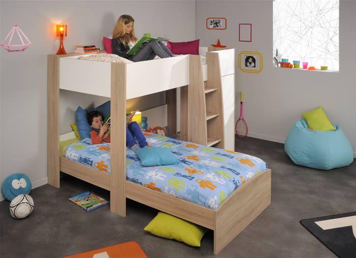 Offset Bunk Beds 14 best kids bedroom images on pinterest | lofted beds, 3/4 beds