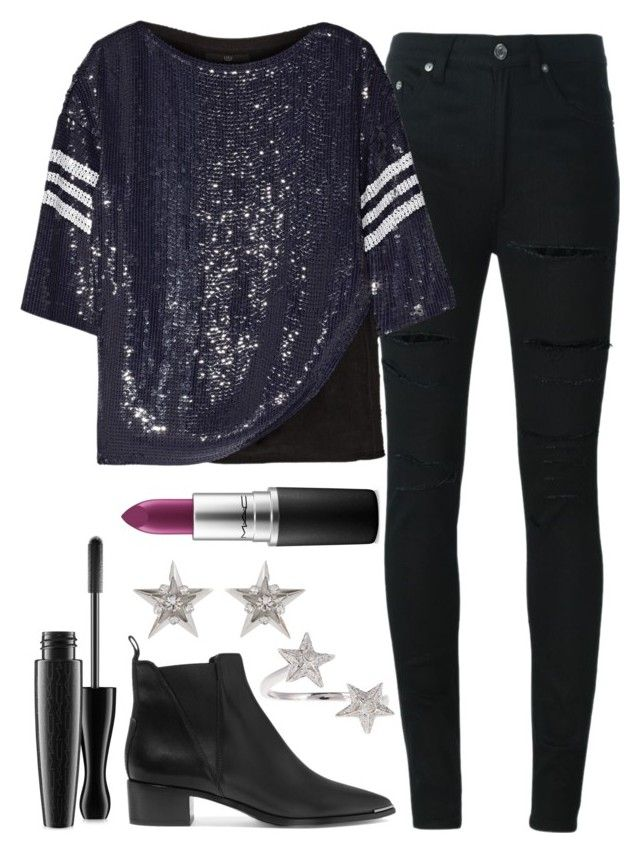 """""""Untitled#1363"""" by mihai-theodora ❤ liked on Polyvore featuring Yves Saint Laurent, TIBI, Acne Studios, Elise Dray, Erickson Beamon, MAC Cosmetics, women's clothing, women, female and woman"""