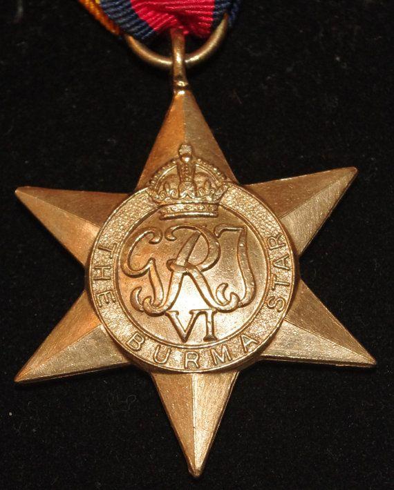 World War II -  British Burma Star Medal - c1945