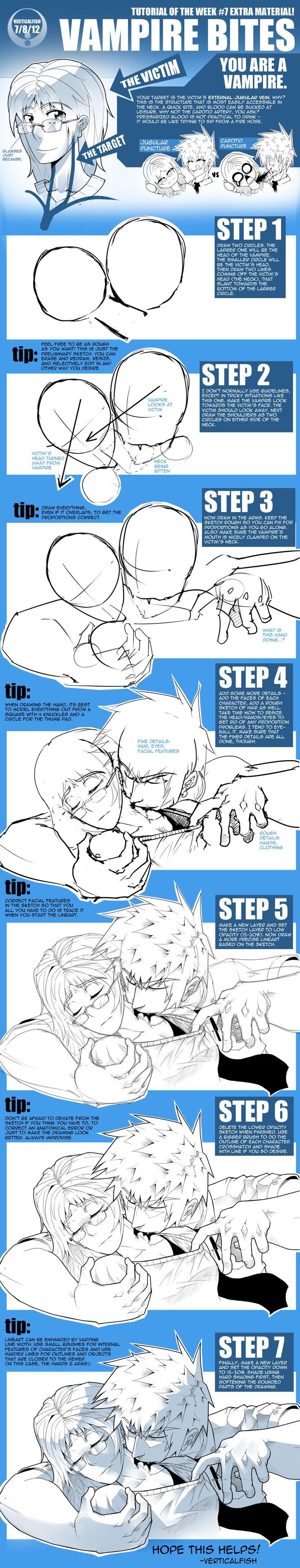 TOW-7+ How to Draw Vampire Bites by verticalfish.deviantart.com on @deviantART
