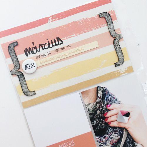 Csináld magad dátum kártya a Project Life albumomba - DIY date card for PL albums!