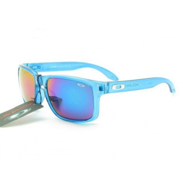 blue oakley holbrook rtz0  $1299 Discount Oakley Holbrook Sunglasses Clear Blue Frame Blue Pink  Yellow Iridium Online Deals www