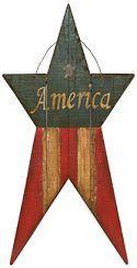 americana wooden outdoor decor | Americana Home - BIG Primtive Americana Outdoor Metal Barn Stars