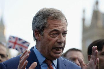 Nigel Farage Political Leaders Respond To The UK's EU Referendum Result