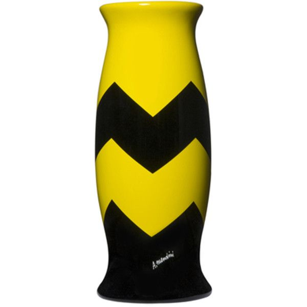 Corsi Design Factory Rousseau VIII Vase by Alessandro Mendini (3.575 RON) ❤ liked on Polyvore featuring home, home decor, vases, yellow, yellow vase, yellow home decor, yellow home accessories and chevron home decor