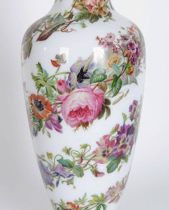 DETAIL: Pair of Opaline Glass Vases by Baccarat,$34,500 |