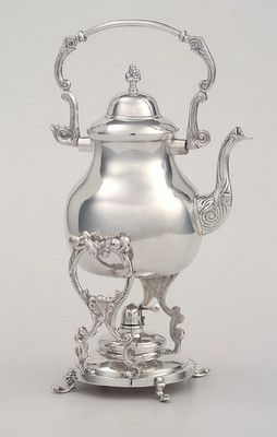 Silver Plated Tipping Teapot, 6 cup