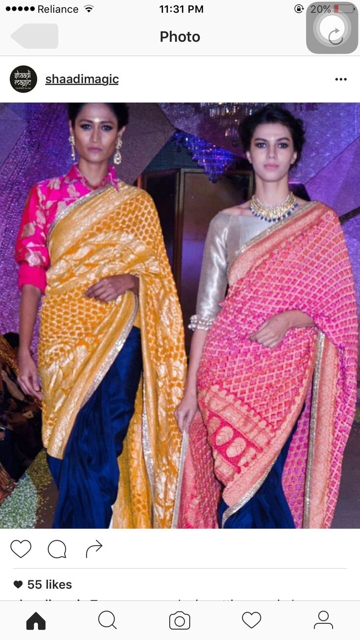 Colour combinations for Banaras Saree