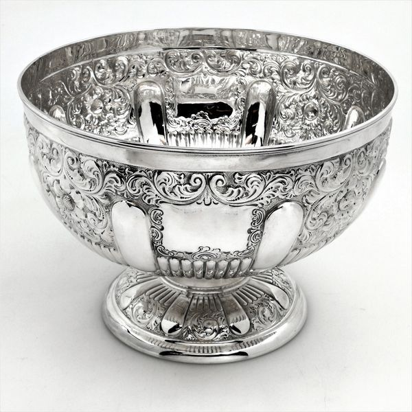 Antique Victorian Solid Silver Bowl / Rose Bowl / Trophy 1893
