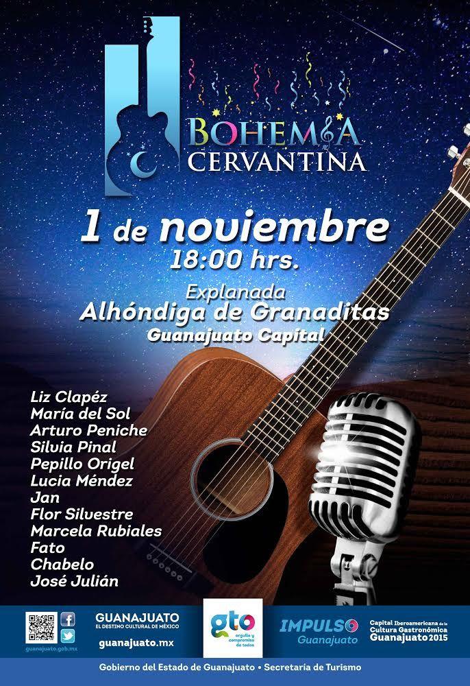 1er. Bohemia Cervantina en Guanajuato. Programa. San Miguel de Allende http://www.portalsma.mx/sma/index.php/noticias/2283-1er-bohemia-cervantina-en-guanajuato-programa #SanMigueldeAllende #SMA #Guanajuato #Eventos