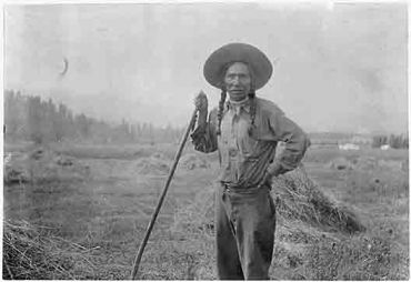 Bureau of Indian Affairs:  Native Americans have been farming and ranching for hundreds of years. Here is Louie Pierre, a farmer on the Flathead Reservation in Montana around 1920. Native American farmers and ranchers claim that USDA officials discriminated against American Indians. The U.S. government has agreed that the claims are valid and have set total compensation at 680 million dollars. Black farmers have made similar claims and Friday the U.S. Senate approved the settlement in that…