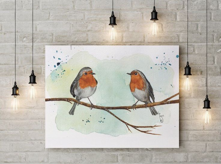 The robins... by Artnocte on Etsy https://www.etsy.com/listing/476449195/the-robins
