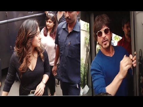 Shahrukh Khan & Kajol spotted at Mehboob Studio, Mumbai.
