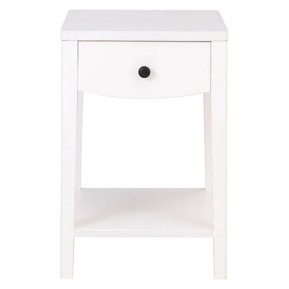 Minta White Painted Bedside Table With 1 Drawer Painted Bedside