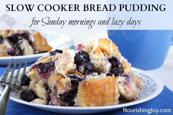Slow Cooker Bread Pudding | NourishingJoy.com