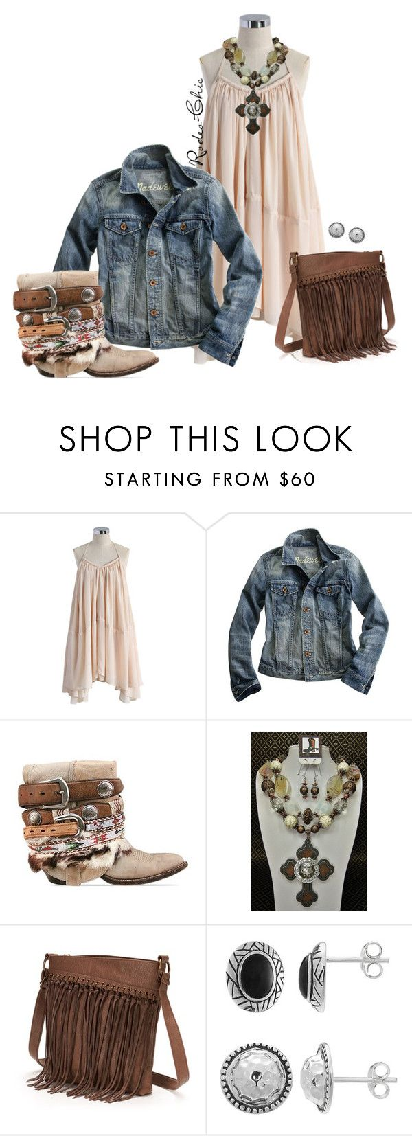 """""""Luckenback Texas"""" by rodeo-chic ❤ liked on Polyvore featuring Chicwish, Madewell, Vintage, SONOMA Goods for Life, country, concert, western, cowboyboots and trapezedress"""
