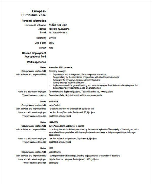 Cv Template Law Resume Format Cv Template Resume Template Word Cv Design Template