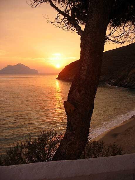 Beautiful Amorgos sunset, Greece