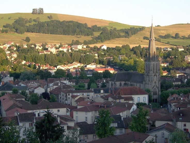 The St Géraud quarter of Aurillac in Auvergne, France