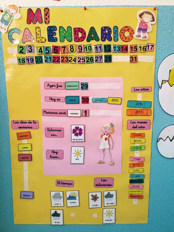 """Hace mucho tiempo que vi en el maravilloso blog de Ángela Marchán """"Rincón de una maestra"""" un calendario que me enamoró..... Me pareció muy p..."""
