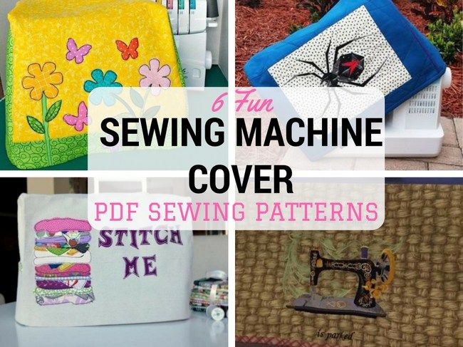 Hei! These are cool! I won't let my sewing machine get covered by dust anymore, with these fun sewing machine cover to sew. On SergerPepper.com