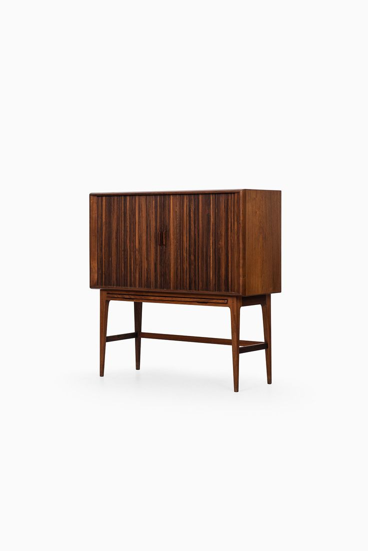 Pair of vintage danish rosewood and brushed steel side cabinets ref - Rare Bar Cabinet In Rosewood Designed By Kurt Stervig And Produced By K P M Bler In Denmark