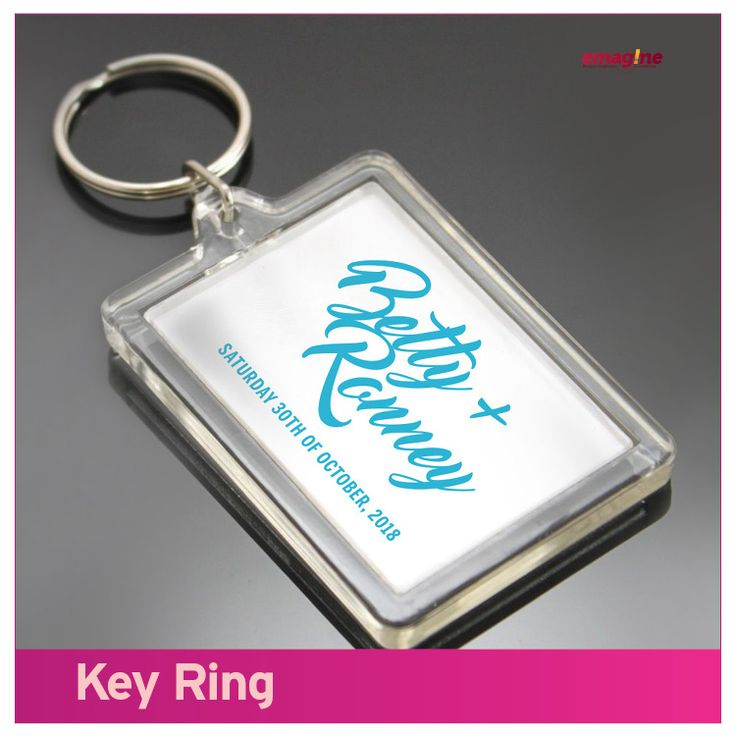KEY RING- Keys could be small but very important. Help them not to lose it. Your wedding is #aWeddingtoremember everywhere they go 365 days every year. Emagine that!