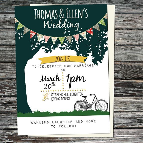 Garden Country Printable Wedding Invitation by JessieAndJabberwock