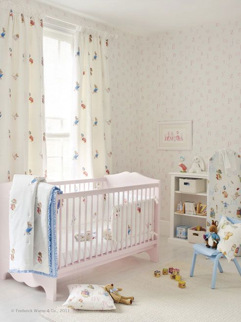1000 ideas about beatrix potter fabric on pinterest - Peter rabbit nursery border ...