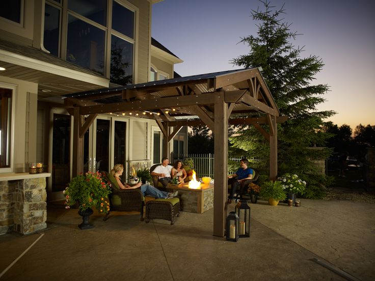 11 best pergolas by the outdoor greatroom company wise for Great outdoor room company