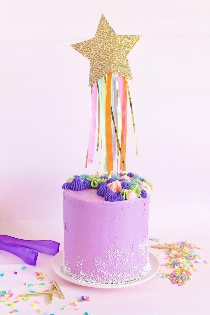 DIY Shooting Star Cake Topper