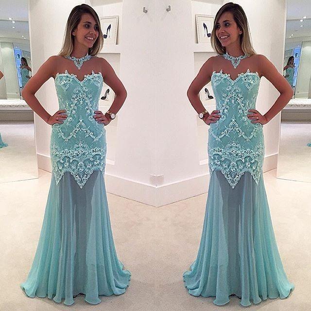Prom Dresses,Light Blue Prom Dress,New Prom Gown,Prom Dresses,Chiffon