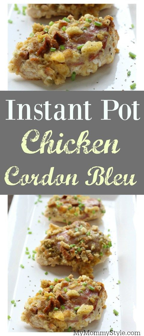Instant Pot Chicken Cordon Bleu