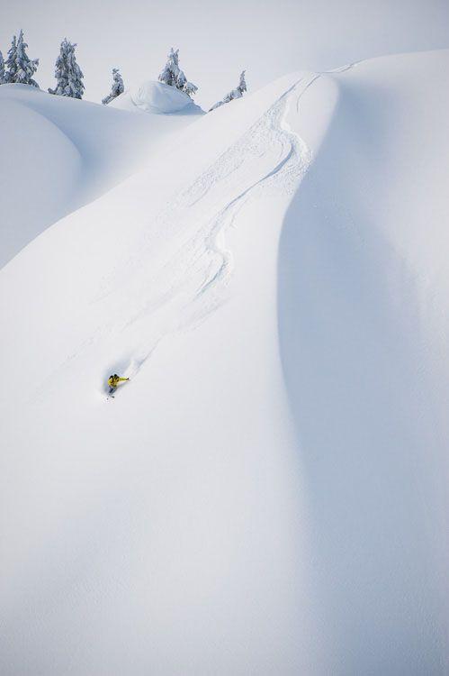 Backcountry skiing around Mount Baker, WA on the Shuksan Arm.