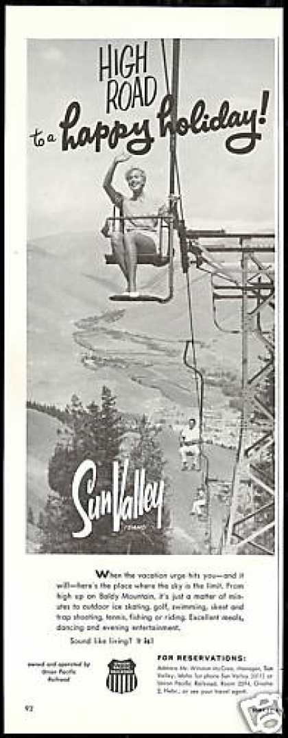 Sun Valley Idaho Chair Lift Baldly Mountain (1959)... That's right baby! See you soooon!