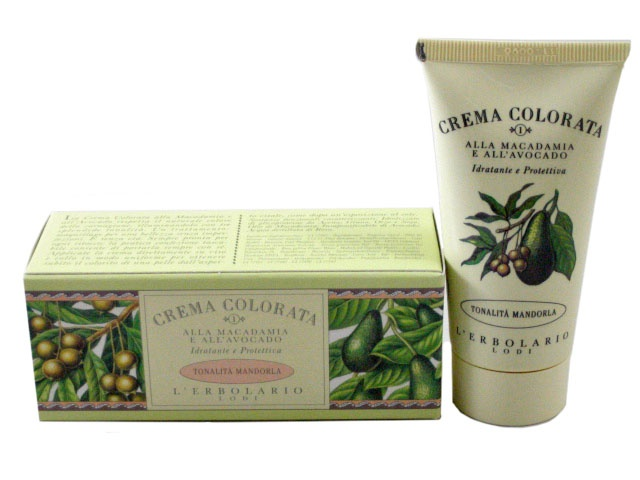 Tinted Face Cream (Crema Colorata) with Macademia Nut and Avocado—Almond (Mandorla) Shade by L'Erbolario Lodi