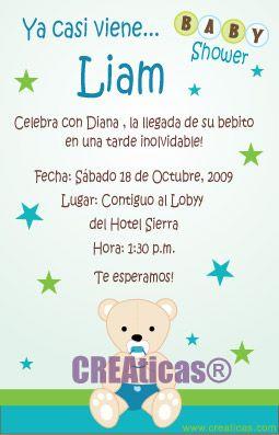 texto invitacion baby shower - Buscar con Google