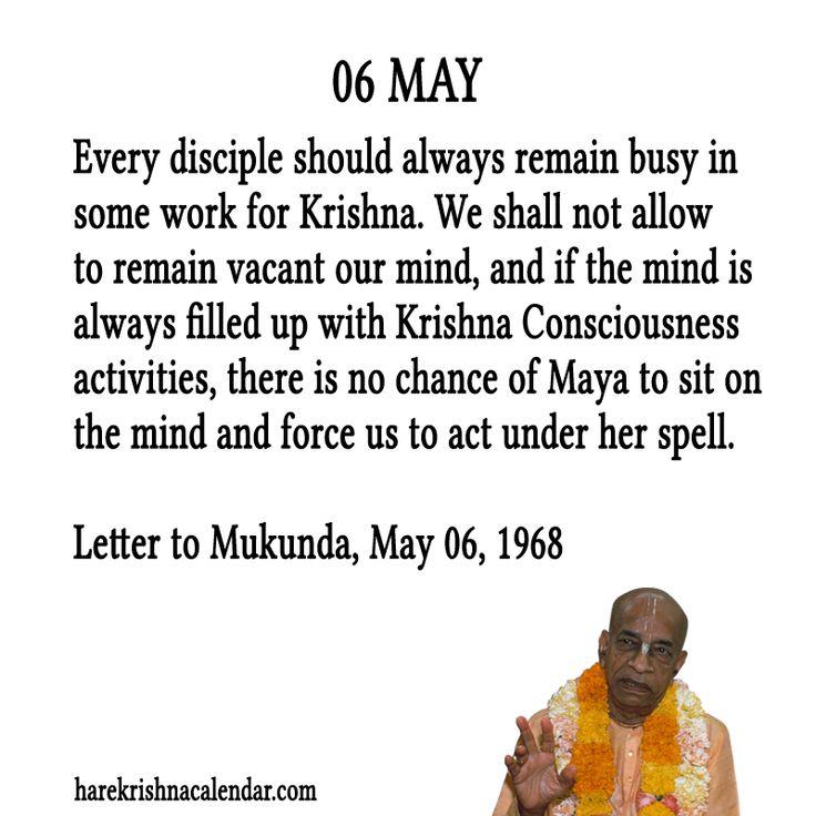 Srila Prabhupada Quotes For Month 06 May