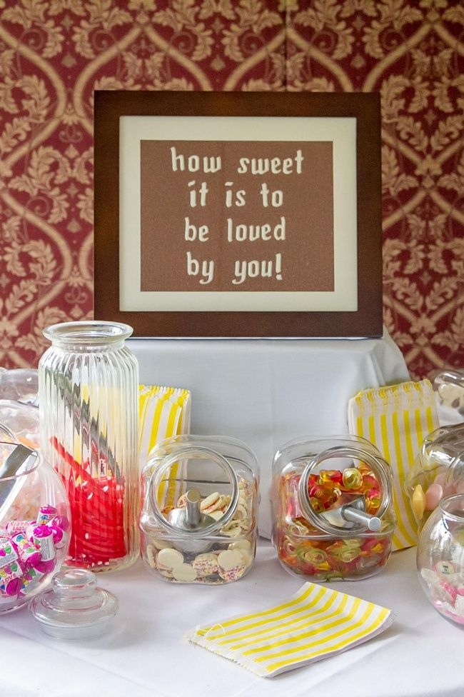 sweetie table yellow brown | Grinkle Park Hotel Wedding Photos | Vanessa Adams. Photography with heart