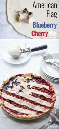 The most patriotic pie out there! Perfect for every holiday, including Memorial Day, Fourth of July and Labor day - not to mention its super simple recipe makes it seamless and delicious all at once. Get the recipe here: http://www.ehow.com/how_12340511_homemade-american-flag-cherry-blueberry-pie.html?utm_source=pinterest.com&utm_medium=referral&utm_content=inline&utm_campaign=fanpage