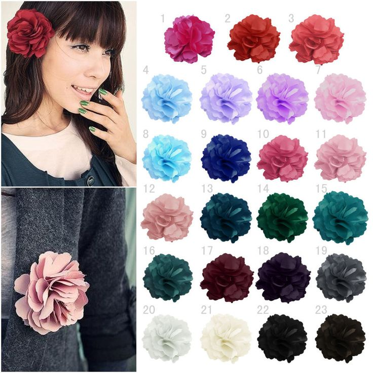 Fashion Ladies Satin Peony Flower Hair Clip Hairpin Wedding Party Brooch Corsage