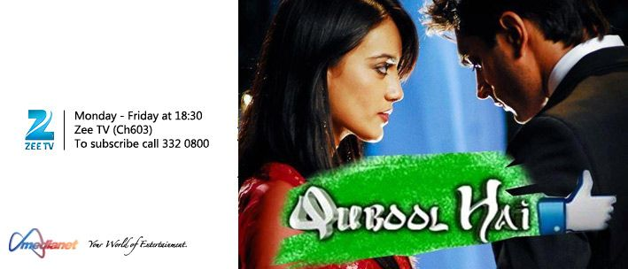 Qubool Hai - Qubool Hai story moves around two step brothers Asad and Ayan and a girl Zoya. Asad turns a rude angry man when his father Rashid left him and his mother. Inspite of being step brother Asad and Ayan love each other very much. Initially, Asad, Zoya and Ayan fight with each other but later they fall into love. This starts with a love triangle between them.