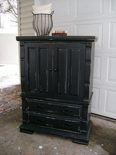 Black distressed furniture